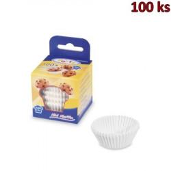 Cukrářské košíčky bílé Ø 35 x 20 mm [100 ks]