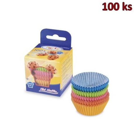 Cukrářské košíčky barevné mix Ø 35 x 20 mm [100 ks]