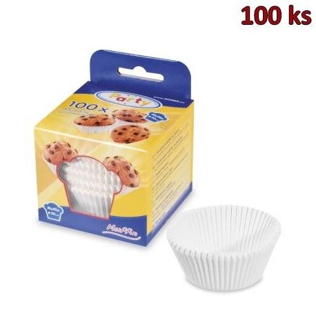 Cukrářské košíčky bílé Ø 50 x 30 mm [100 ks]