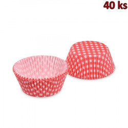 Cukrářské košíčky KARO červené Ø 50 x 30 mm [40 ks]