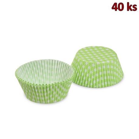 Cukrářské košíčky KARO zelené Ø 50 x 30 mm [40 ks]