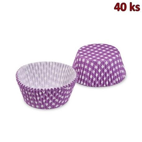 Cukrářské košíčky KARO fialové Ø 50 x 30 mm [40 ks]