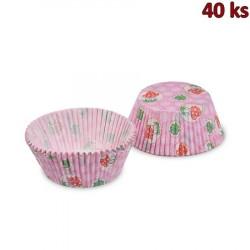 Cukrářské košíčky čtyřlístek a muchomůrka Ø 50 x 30 mm [40 ks]