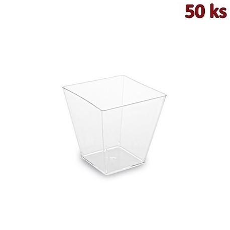 Fingerfood kelímek hranatý, čirý 5,0 x 5,0 x 4,5 cm - 60 ml [50 ks]