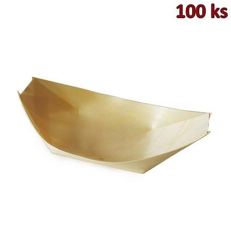 Fingerfood miska dřevěná, lodička 21,5 x 11 cm [100 ks]