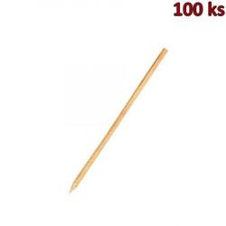 Dřevěné špejle hrocené 20 cm, Ø 3 mm [100 ks]