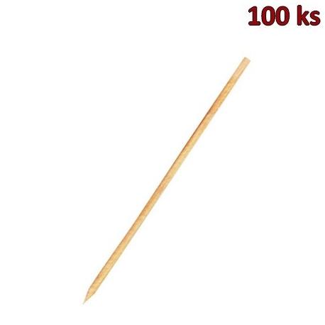 Dřevěné špejle hrocené 30 cm, Ø 3 mm [100 ks]