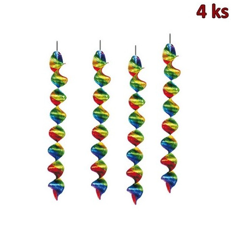 Spirály lesklé 60 cm (Ø 5 cm) [4 ks]
