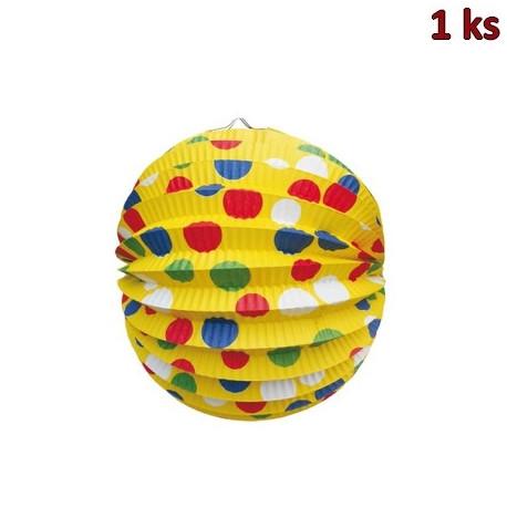 Lampión kulatý PARTY žlutý Ø 24 cm [1 ks]