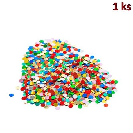 Konfety papírové, barevný mix 100 g [1 bal.]