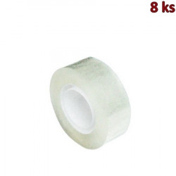 Lepící páska průhledná 33 m x 19 mm [8 ks]