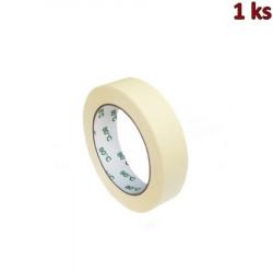 Lepící páska krepová, bílá 50 m x 25 mm (do +80°C) [1 ks]