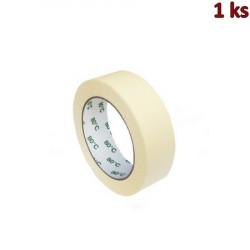 Lepící páska krepová bílá 50 m x 30 mm (do +80°C) [1 ks]