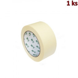 Lepící páska krepová bílá 50 m x 50 mm (do +80°C) [1 ks]