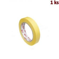 Lepící páska krepová, žlutá 50 m x 19 mm [1 ks]