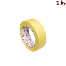 Lepící páska krepová, žlutá 50 m x 30 mm [1 ks]