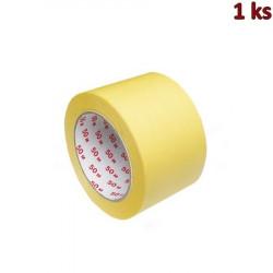 Lepící páska krepová, žlutá 50 m x 75 mm [1 ks]
