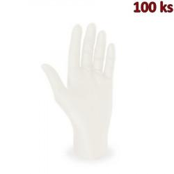 Rukavice latexové bílé, nepudrované (vel. M) [100 ks]
