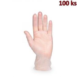 Rukavice vinylové bílé, pudrované (vel. L) [100 ks]
