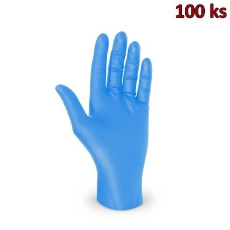 Rukavice nitrilové modré, nepudrované (vel. S) [100 ks]