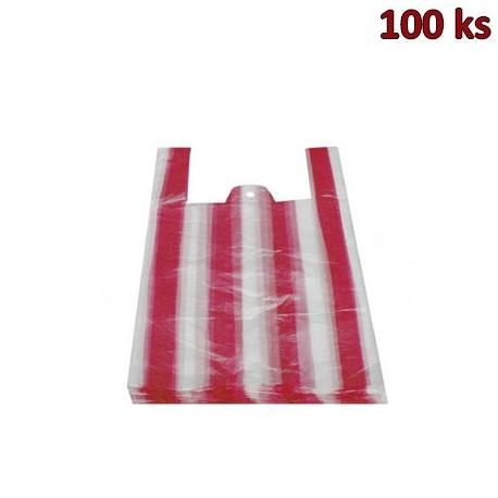 Mikrotenové tašky 4 kg pruhované 25 + 12 x 45 cm [100 ks]