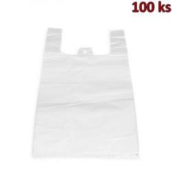 Mikrotenové tašky 10 kg bílé 30 + 18 x 55 cm [100 ks]
