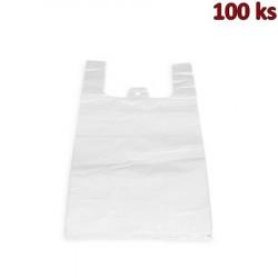 Mikrotenové tašky 5 kg extra silné bílé 25 + 12 x 47 cm [100 ks]