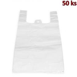 Mikrotenové tašky 15 kg extra silné bílé 30 + 20 x 60 cm [50 ks]