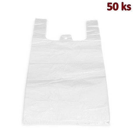 Mikrotenové tašky 20 kg extra silné bílé 40 + 20 x 60 cm [50 ks]