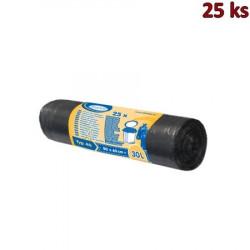 Sáčky do koše extra pevné černé 50x60cm, 30 l [25 ks]