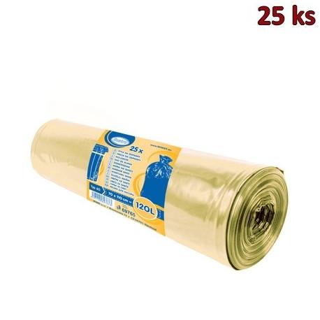 Pytle na odpadky žluté 70x110cm,120 l, Typ 60 [25 ks]