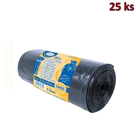 Pytle na odpadky černé 90x110cm,140 l, Typ 60 [25 ks]