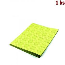 Papírový ubrus skládaný 1,80 x 1,20 m žlutý [1 ks]