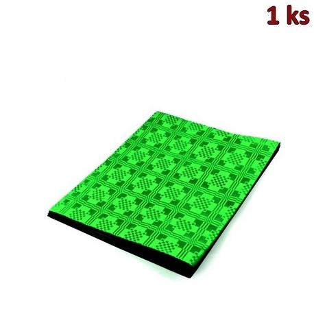 Papírový ubrus skládaný 1,80 x 1,20 m tmavě zelený [1 ks]