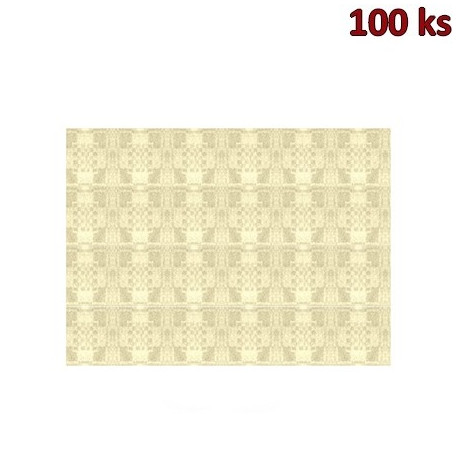Papírové prostírání 30 x 40 cm béžové [100 ks]