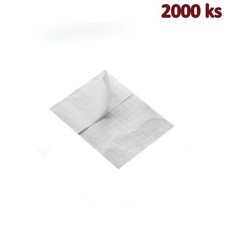 Papírové ubrousky do zásobníku bílé 1-vrstvé, 17 x 17 cm [2000 ks]