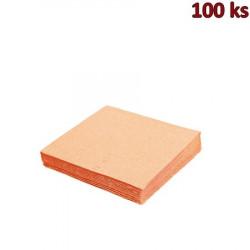 Papírové ubrousky apricot 1-vrstvé, 33 x 33 cm [100 ks]