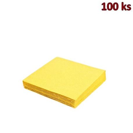 Papírové ubrousky žluté 1-vrstvé, 33 x 33 cm [100 ks]