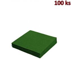 Papírové ubrousky tmavě zelené 1-vrstvé, 33 x 33 cm [100 ks]
