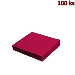 Papírové ubrousky bordové 1-vrstvé, 33 x 33 cm [100 ks]