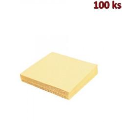 Papírové ubrousky béžové 1-vrstvé, 33 x 33 cm [100 ks]