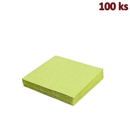 Papírové ubrousky žlutozelené 1-vrstvé, 33 x 33 cm [100 ks]