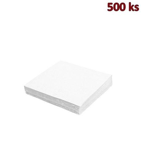 Papírové ubrousky bílé 1-vrstvé, 33 x 33 cm [500 ks]