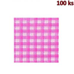 Papírové ubrousky KARO červené 1-vrstvé, 33 x 33 cm [100 ks]