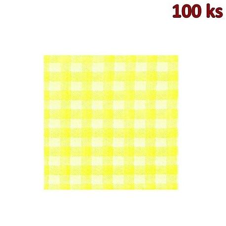 Papírové ubrousky KARO žluté 1-vrstvé, 33 x 33 cm [100 ks]