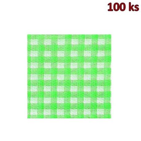 Papírové ubrousky KARO zelené 1-vrstvé, 33 x 33 cm [100 ks]