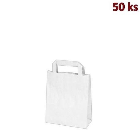 Papírové tašky 18 x 8 x 22 cm bílé [50 ks]