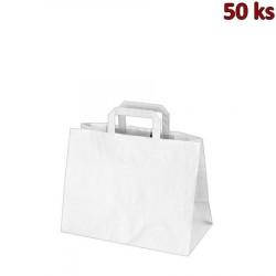 Papírové tašky 32x17 x 25 cm bílé [50 ks]