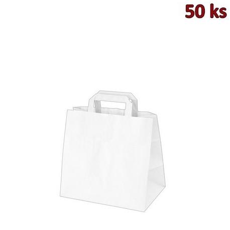 Papírové tašky 26x17 x 25 cm bílé [50 ks]