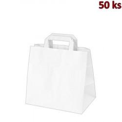 Papírové tašky 32 x 21 x 27 cm bílé [50 ks]